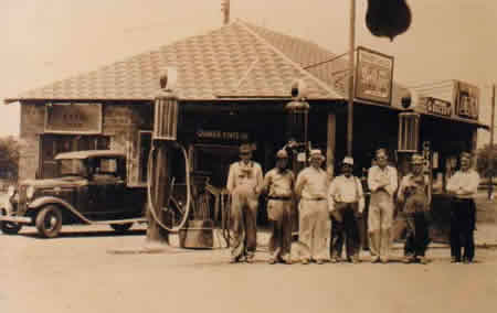 An early Asher gas station.