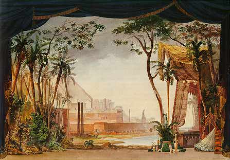 Set design for the opera Moïse et Pharaon, Par...