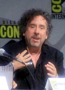 English: Tim Burton, speaking at ComicCon 2009