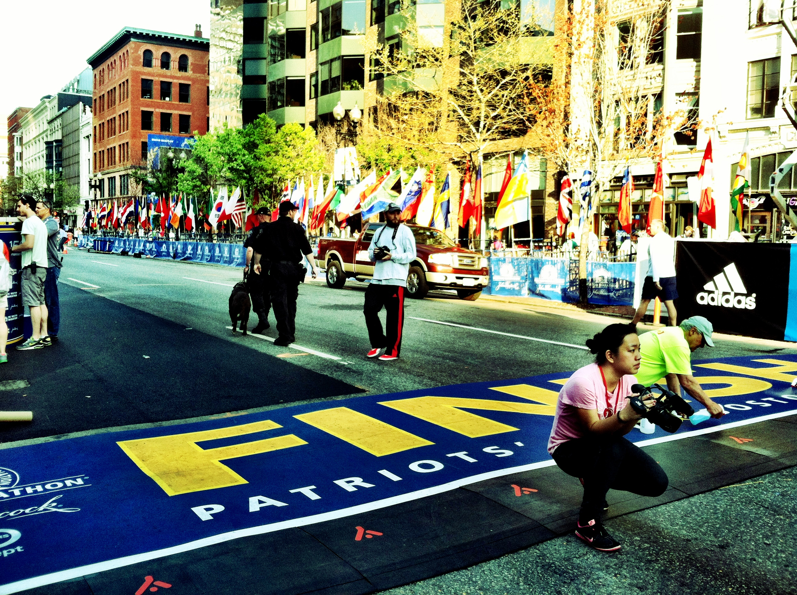 Boston Marathon Finish Line 2012