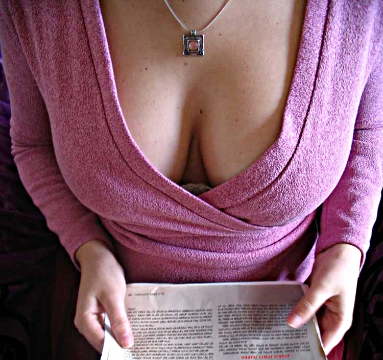 Cleavage of a woman See Through Blouses For Sale