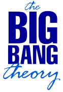 The Big bang Theory using simple typefaced font