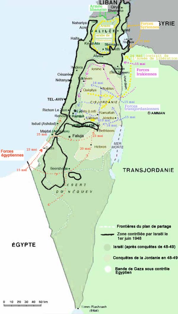 Conquête de la Jordanie et de l'Egypte en 48