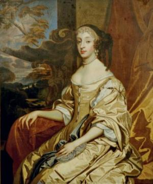 Portrait of Henriette of England, Duchess of Orléans seated in a landscape from the studio of Sir Peter Lely.jpg