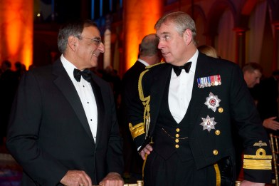 Image result for Secretary of Defense – https://www.flickr.com/photos/secdef/6439944255   Prince Andrew and Leon E. Panetta CC BY 2.0