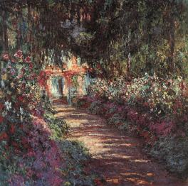 Le Jardin de GIVERNY en fleurs 1900