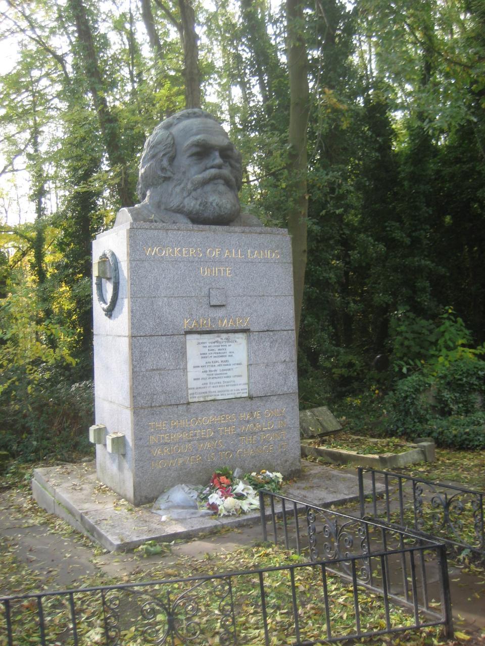 Karl Marx' grave