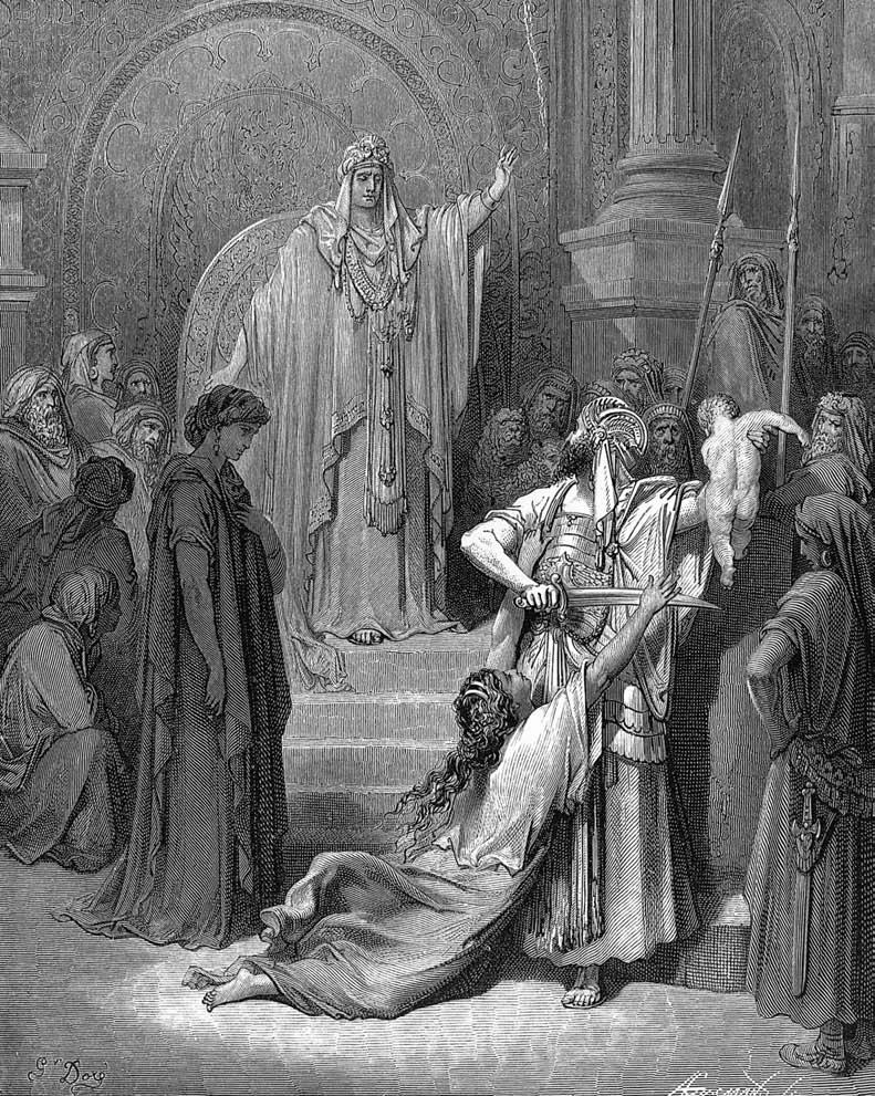 Judgment of Solomon (Gustave Doré).