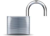 English: open padlock icon