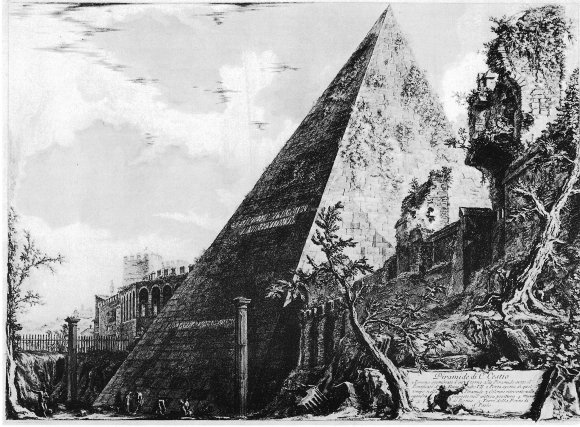 Pyramid of Cestius by Piranesi