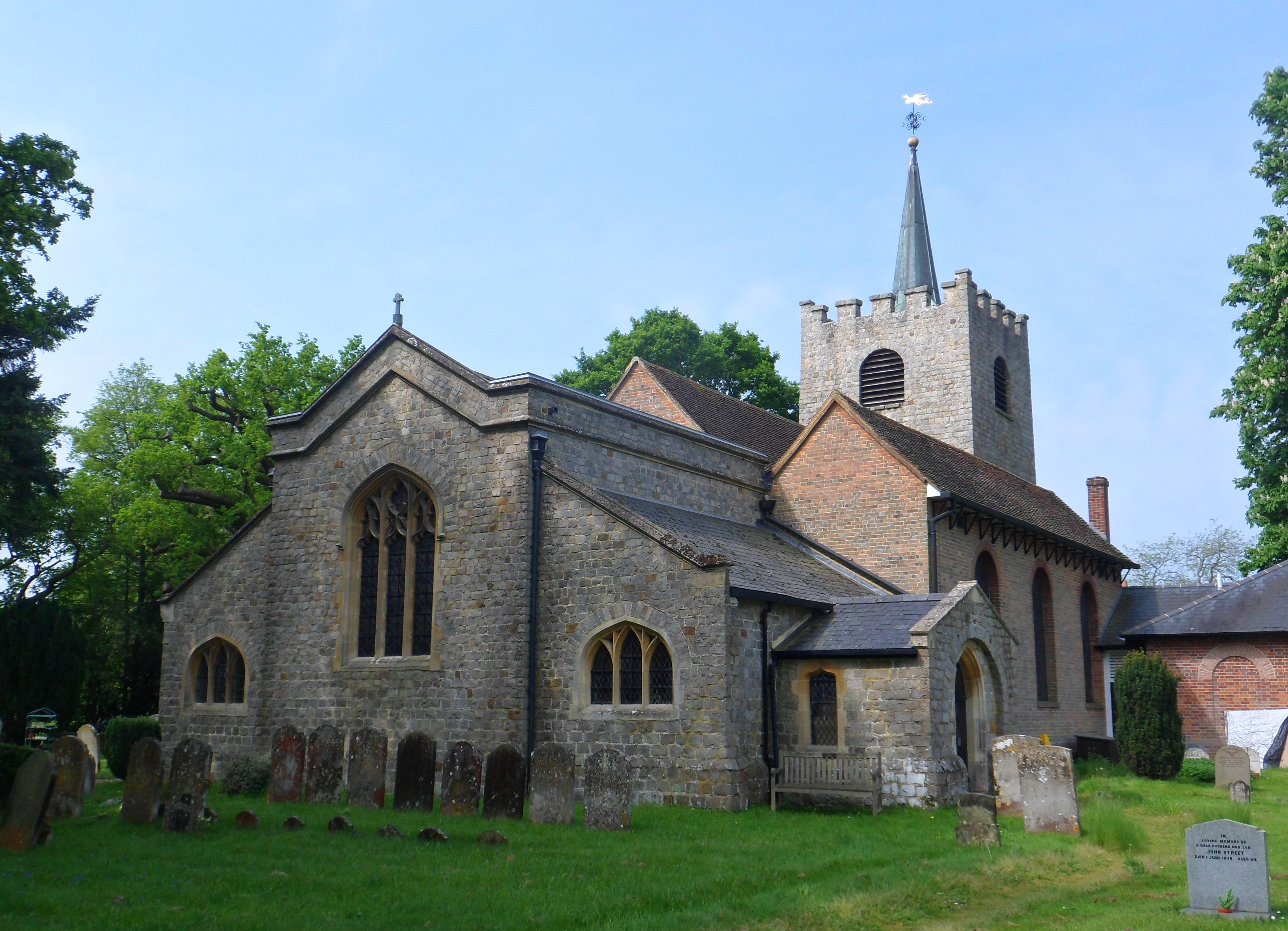 File:St Michael and All Angels Church, Church Lane, Pirbright (May