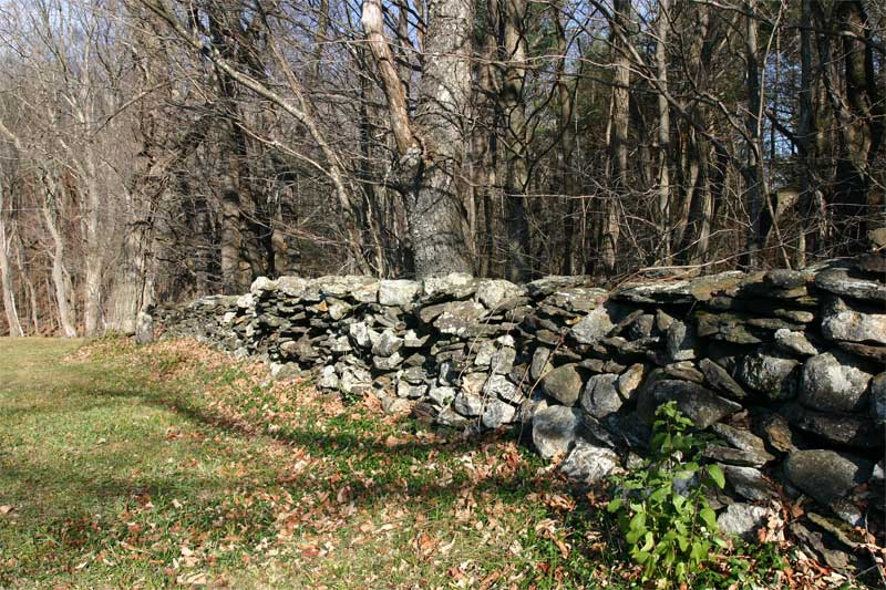 A rock wall in Vermont, like the one Robert Frost wrote about -Wikimedia image
