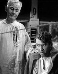 Henry Travers and Jimmy Stewart in