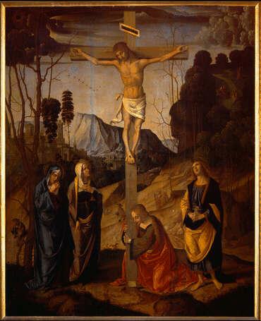 File:Marco palmezzano, crocifissione degli Uffizi.jpg