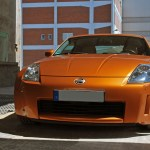 File Nissan 350z Premium Pack In Sunset Orange 2003 Front View Jpg Wikimedia Commons