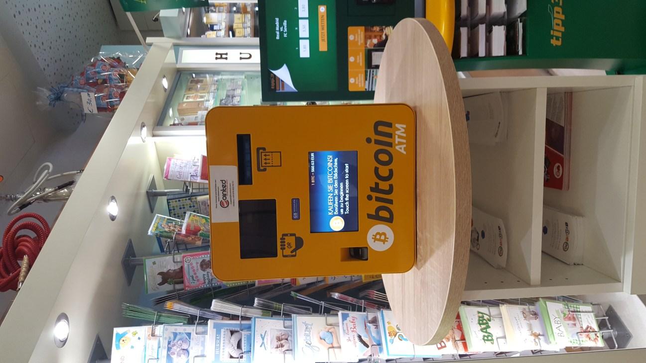 Bitcoin ATM in Vienna.jpg English: A Bitcoin ATM in Vienna - Westbahonhof Date 9 August 2016, 18:00:14 Source Own work Author Elph