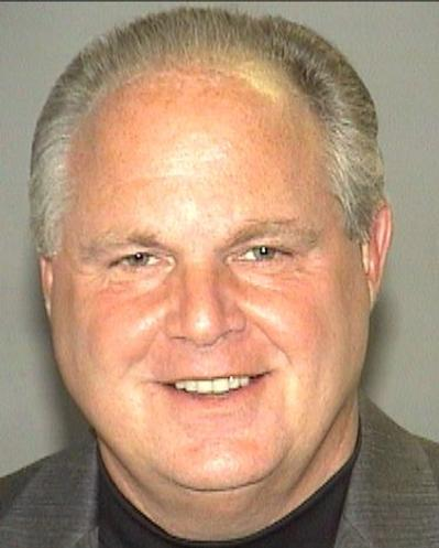 Rush Limbaugh booking photo from his arrest in...
