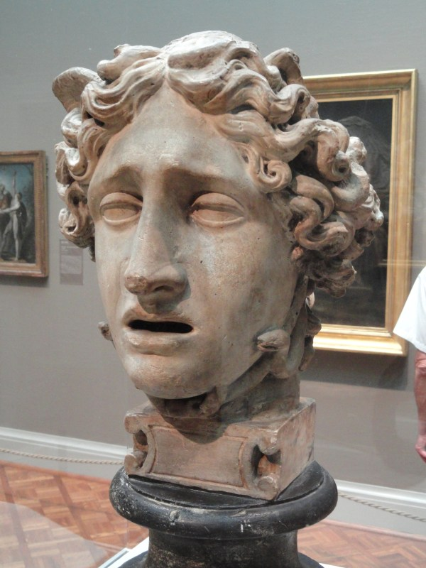 File:Head of Medusa, c. 1801, by Antonio Canova, plaster ...
