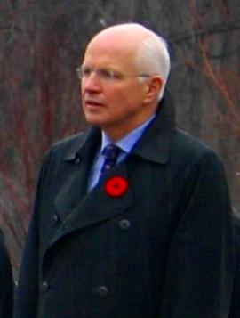 Canadian politician Greg Thompson, wearing a R...