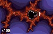 Mandelbrot Zoomed 100x