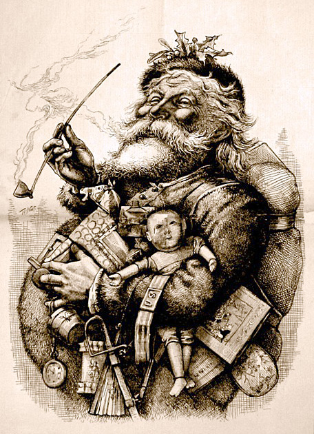 English: Thomas Nast's most famous drawing, &q...