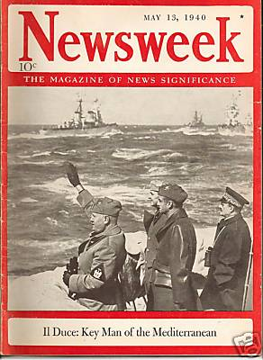 Cover of the May 13, 1940 issue of Newsweek ma...