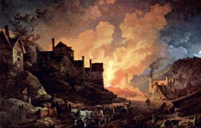 Metallurgy in Coalbrookdale by Night, (1801) by Philipp Jakob Loutherbourg the Younger
