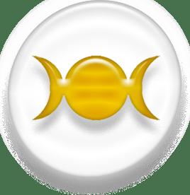 Symbol of Wicca, version 1, golden version.