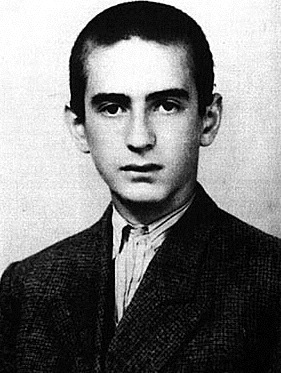 English: Elie Wiesel, aged 15.