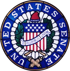 Seal of the United States Senate.