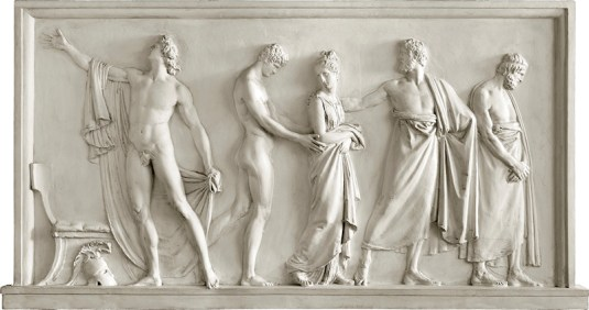 Canova:Briseide consegnata da Achille agli araldi di Agamennone