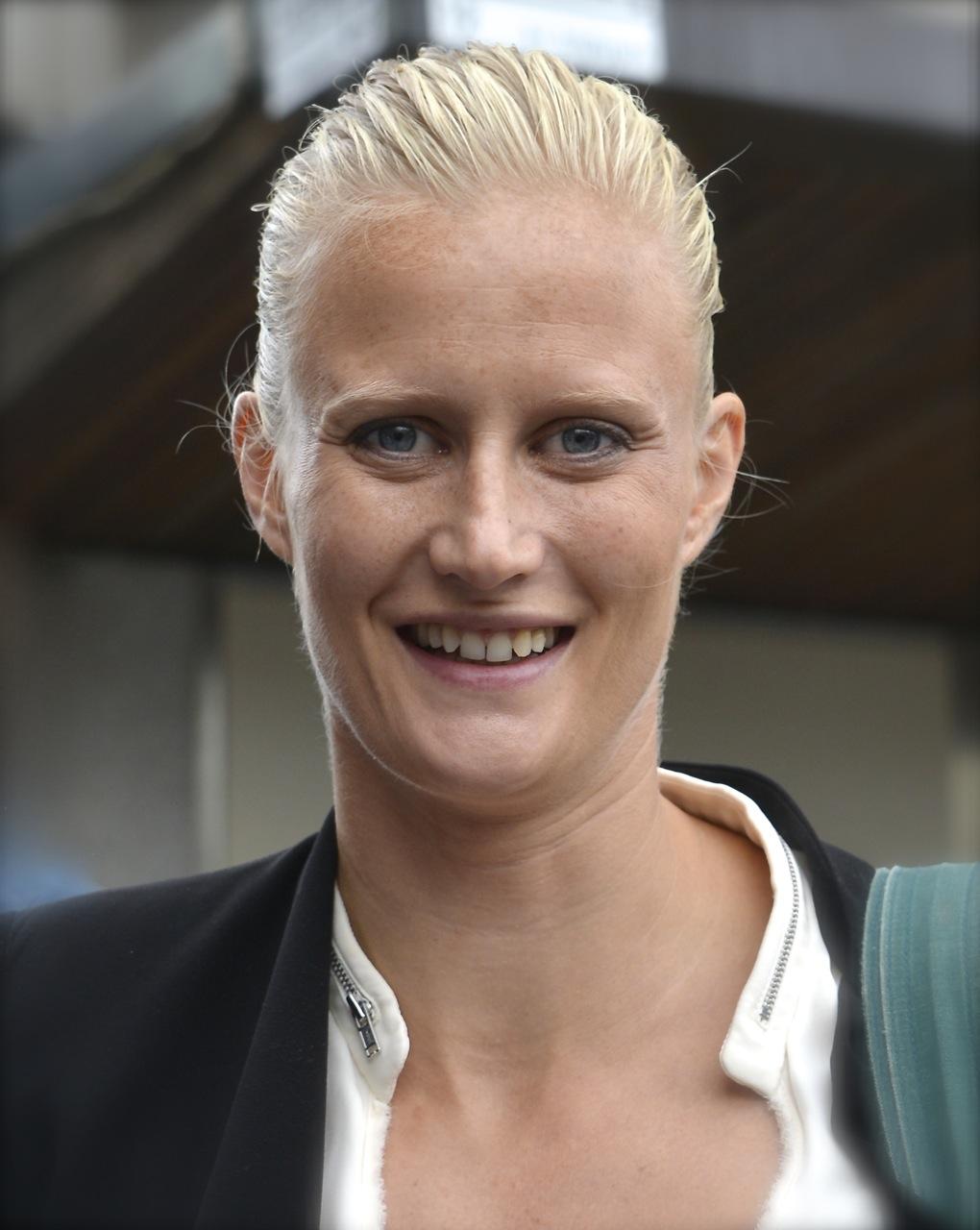 Carolina Klüft in september 2014 Blonde Hair With Platinum Highlights