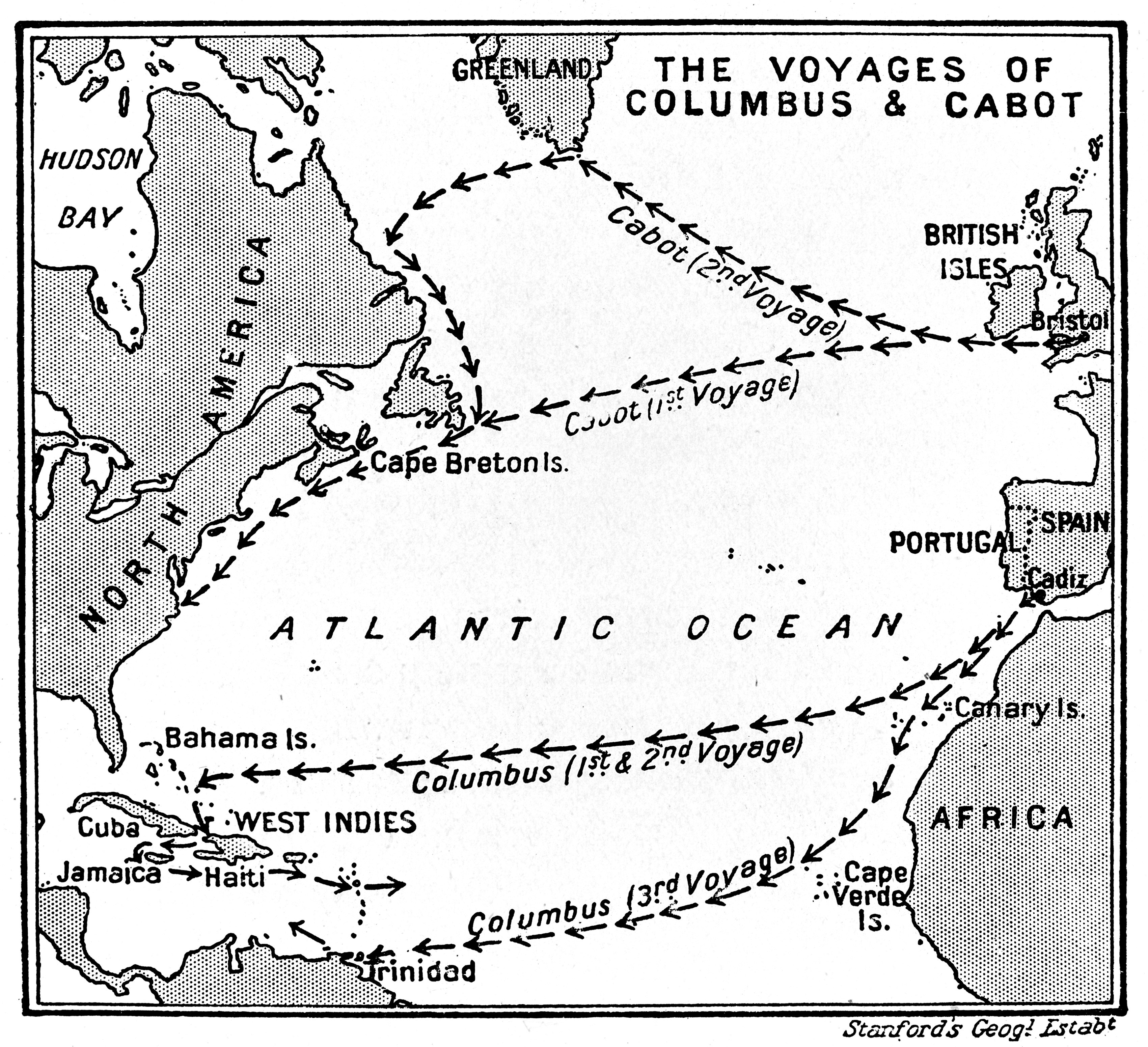 File Map Of The Voyages Of Columbus And Cabot Wellcome