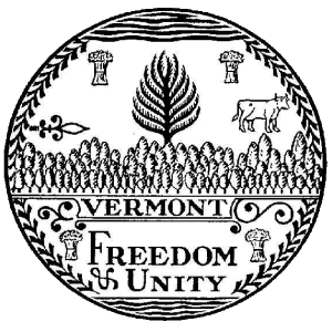 Great seal of Vermont. Although officially ado...