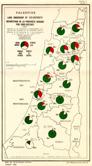 Image result for UN 1945 map of palestine
