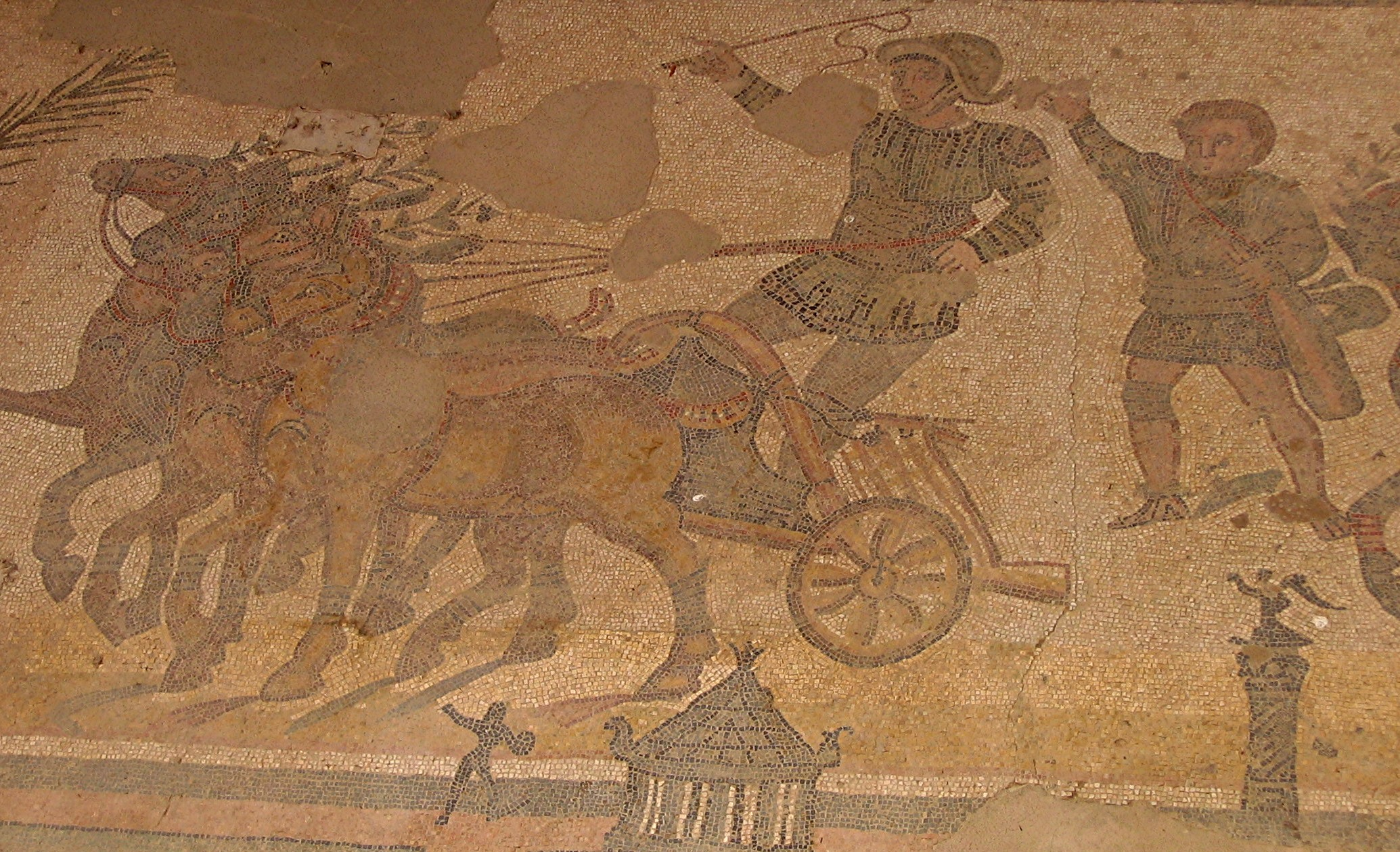 Various parties and teams of chariots were fighting each other in the capital.
