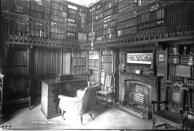 England Castle Abbotsford Library Sir Walter Scott