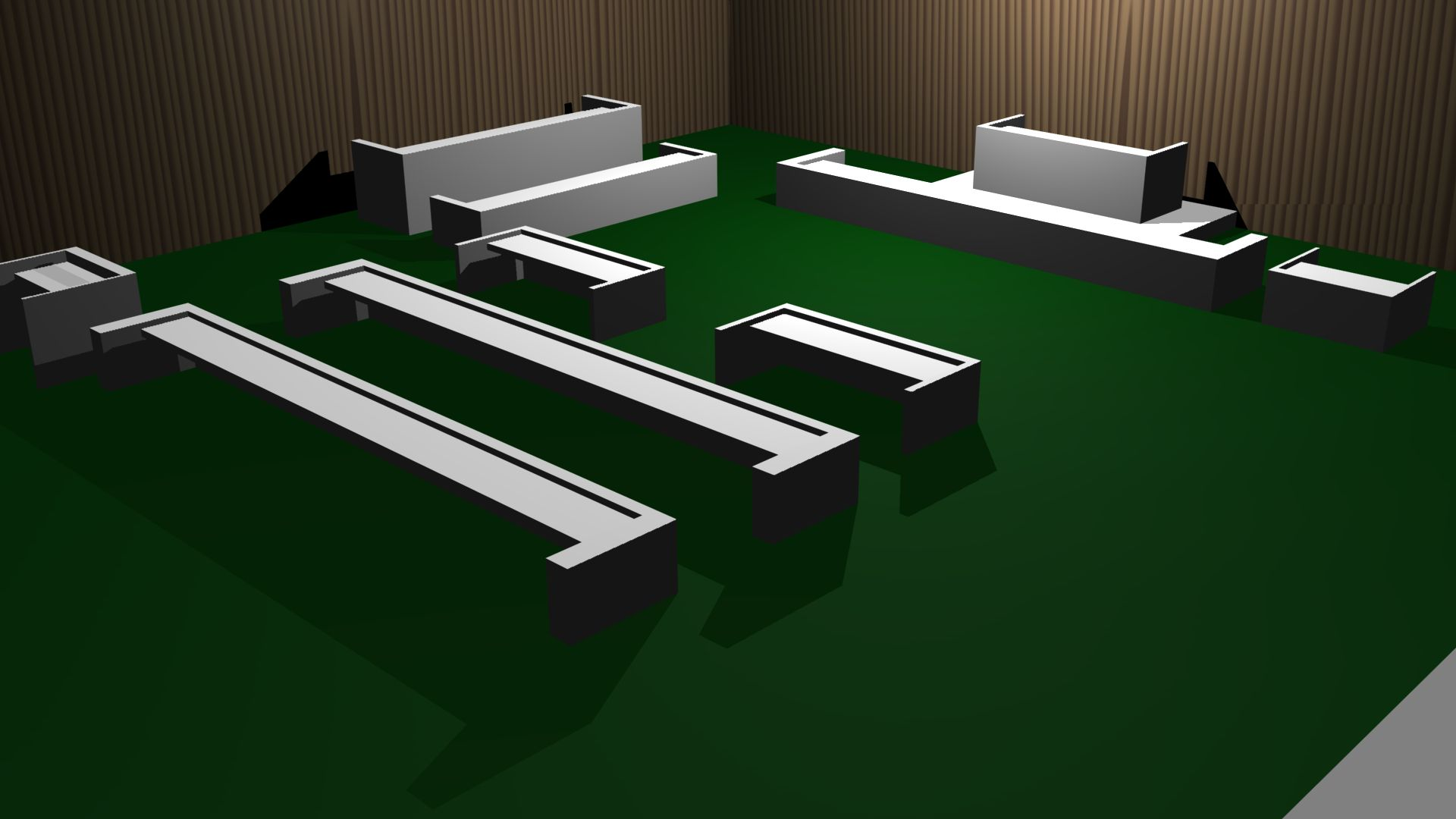 Typical courtroom layout