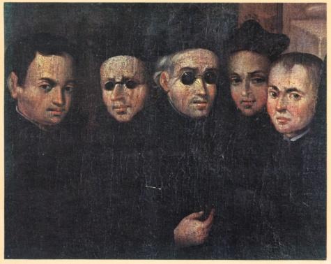 """""""Jesuitas en el Cuzco"""" (Museo Arzobispal del Cuzco, Perú - S. XVII)"""