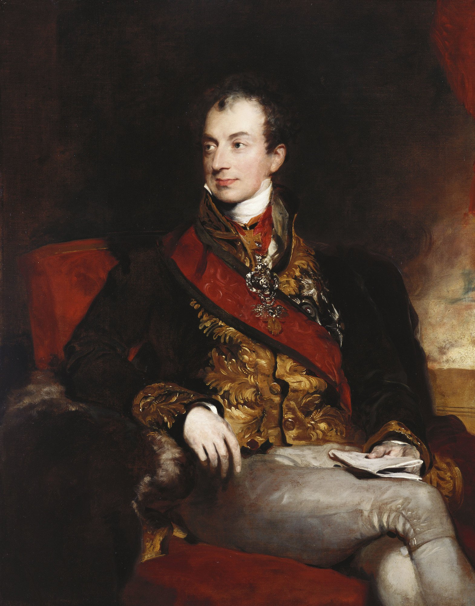 Thomas Lawrence (1769–1830):  Portrait of Prince Klemens Wenzel von Metternich, German-Austrian diplomat, politician and statesman (1773-1859).