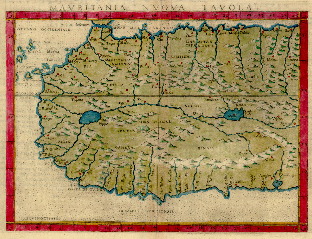 Archivo Map Of West Africa By Girolamo Ruscelli