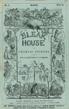 "English: Cover of serial, ""Bleak House&qu..."