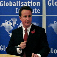 English: David Cameron is a British politician...