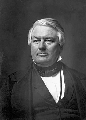 Millard Fillmore in the 1850s, NY Times image, Wikimedia