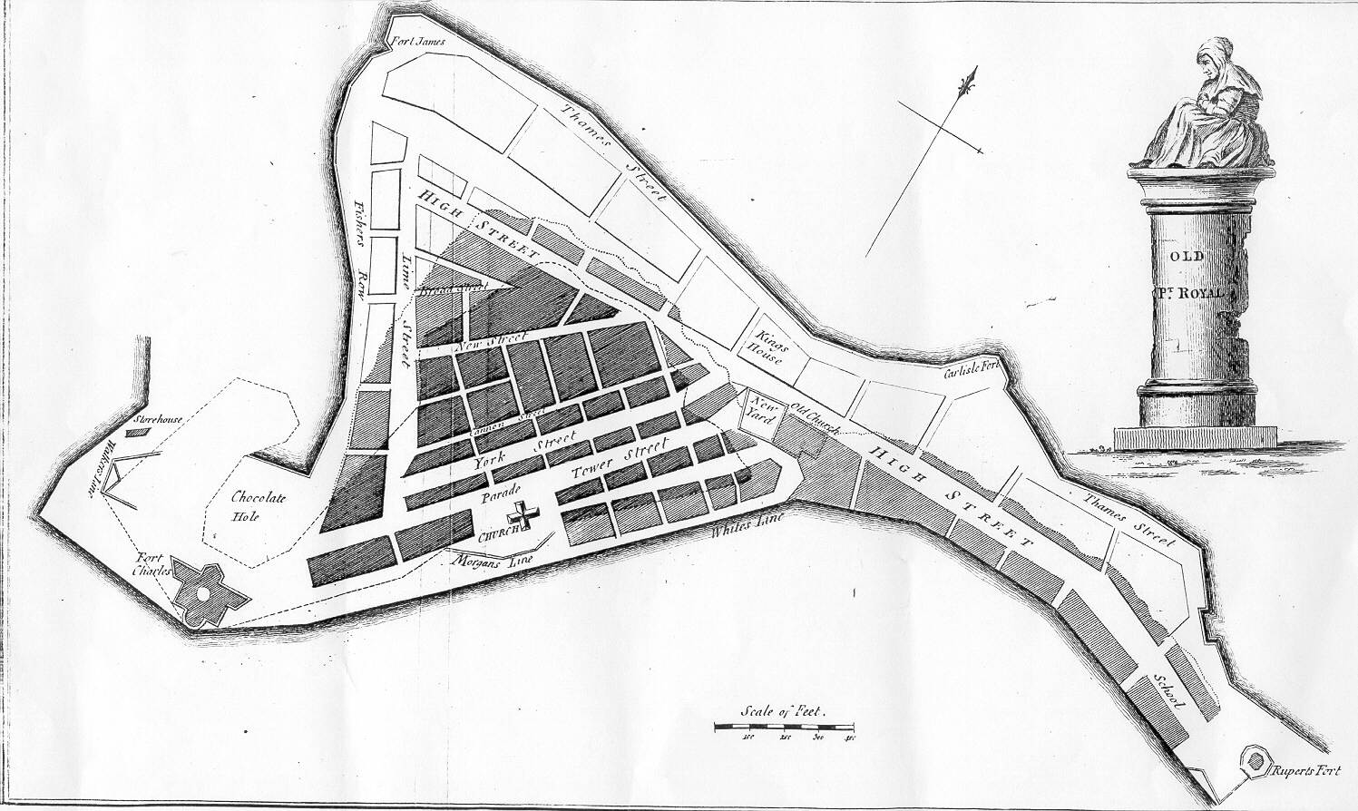 Map Of Old Port Royal Jamaica The Wickedest Place On