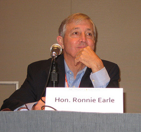 English: Former Travis County DA Ronnie Earle ...