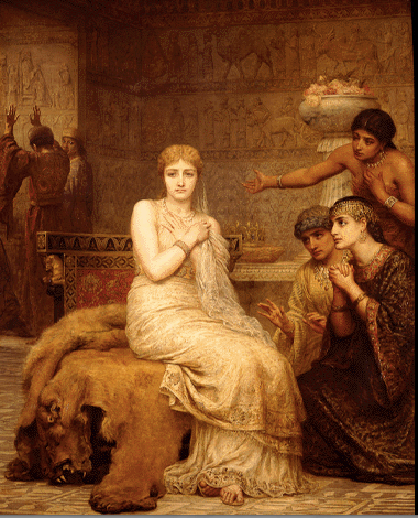 Photo of Vashti Refuses the King's Summons, painting by Edwin Long, 1879