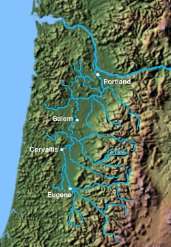 The Willamette River Valley