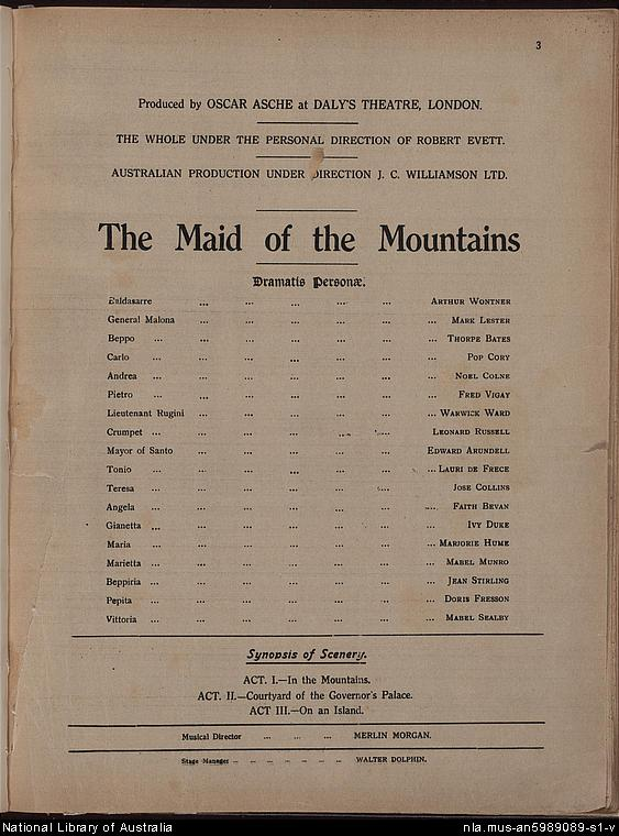 The Maid Of The Mountains Wikipedia
