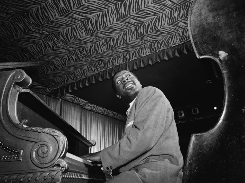 Erroll Garner at the piano